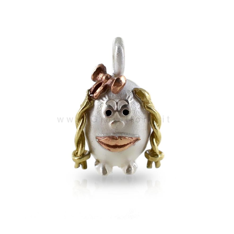 Ciondolo in argento Le Pulci - Pulce BIRICHINA