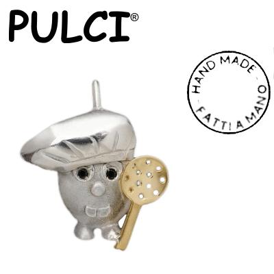 Ciondolo in argento e oro Pulci - Pulce Cuoco