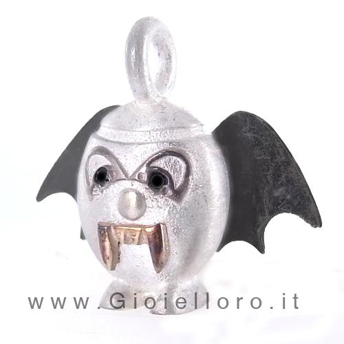 Ciondolo in argento e oro Pulci - Pulce Draculetta
