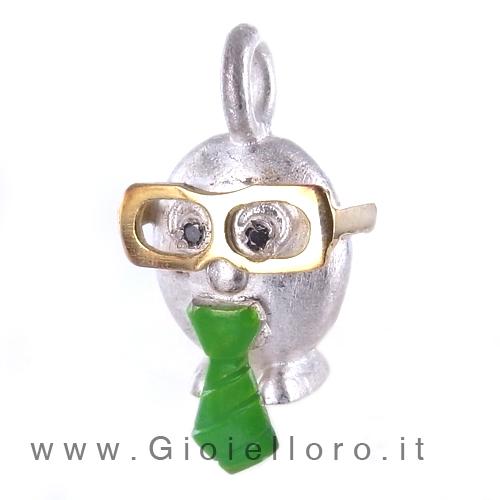 Ciondolo in argento e oro Pulci - Pulce El Senatur