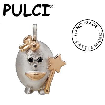 Ciondolo in argento e oro Pulci - Pulce Fatina