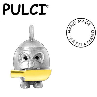 Ciondolo in argento e oro Pulci - Pulce Incazz... nera