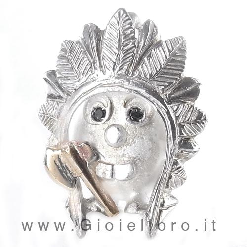 Ciondolo in argento e oro Pulci - Pulce Indiano