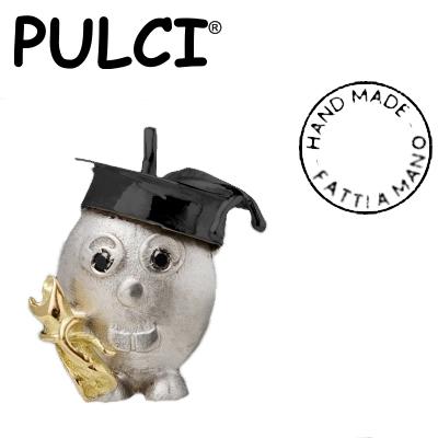 Ciondolo in argento e oro Pulci - Pulce Laureata