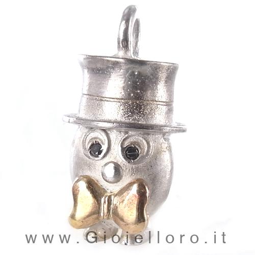 Ciondolo in argento e oro Pulci - Pulce Elegantona
