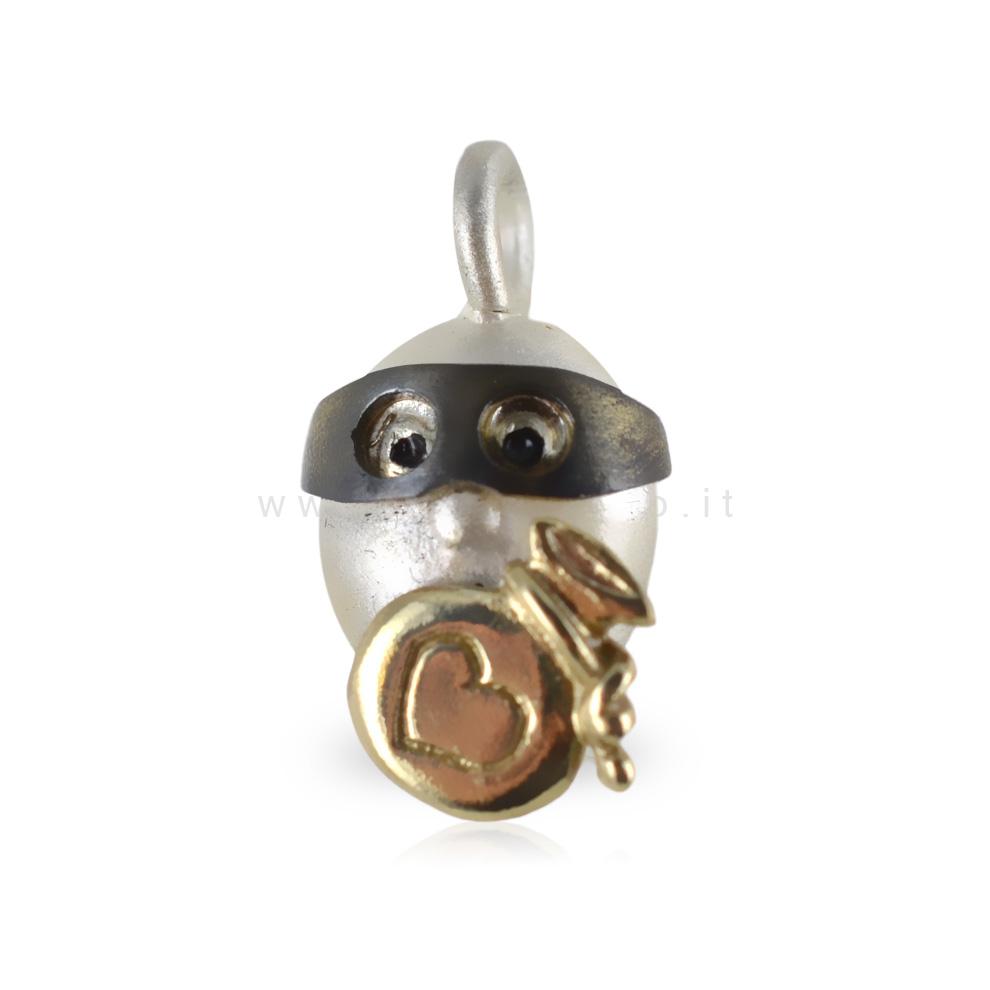 Ciondolo in argento Le Pulci - Pulce RUBACUORI
