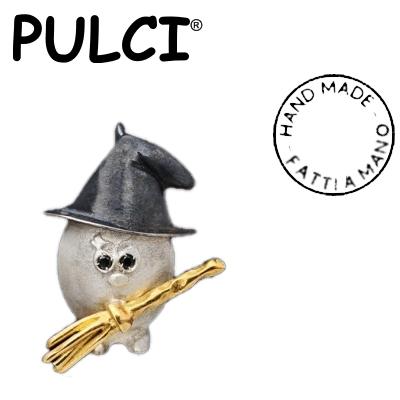 Ciondolo in argento e oro Pulci - Pulce Strega
