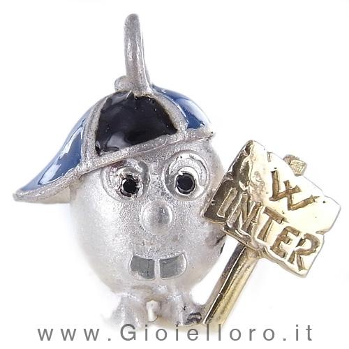 Ciondolo in argento e oro Pulci - Pulce W INTER