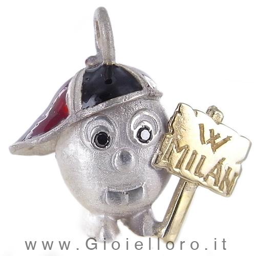 Ciondolo in argento e oro Pulci - Pulce W MILAN