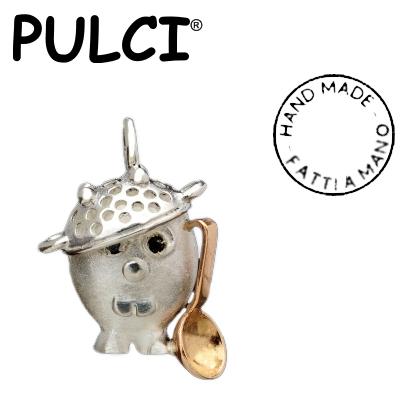 Ciondolo in argento e oro Pulci - Pulce pasticciona