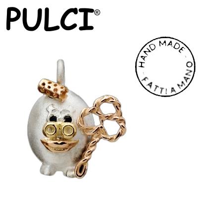 Ciondolo in argento e oro Pulci - Pulce suocera