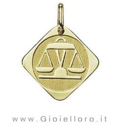 Ciondolo segno zodiacale in oro giallo BILANCIA - Stella Milano
