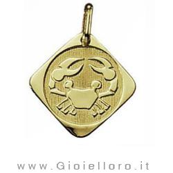 Ciondolo segno zodiacale in oro giallo CANCRO - Stella Milano