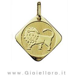 Ciondolo segno zodiacale in oro giallo LEONE - Stella Milano