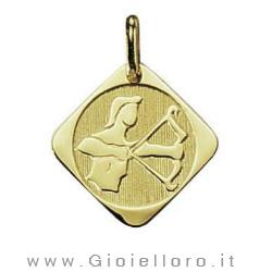 Ciondolo segno zodiacale in oro giallo SAGITTARIO - Stella Milano