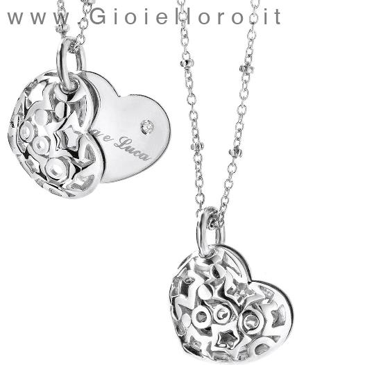 Collana Comete Gioielli in argento collezione Segreto Cuore GLA103