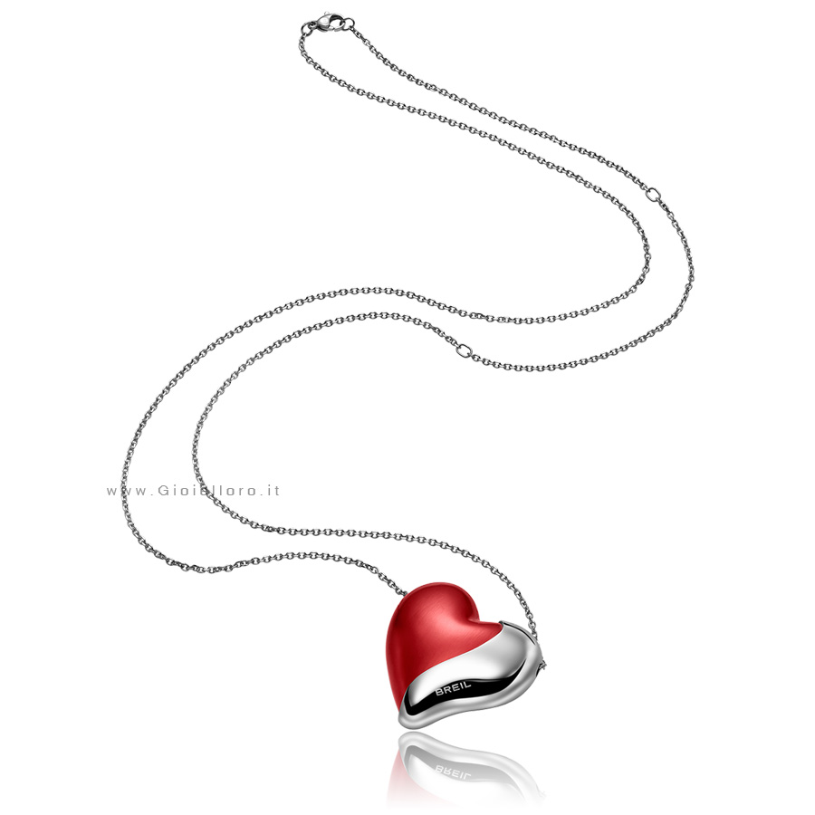 Collana Pendente Grande BREIL HEARTBREAKER Supreme Red TJ1417