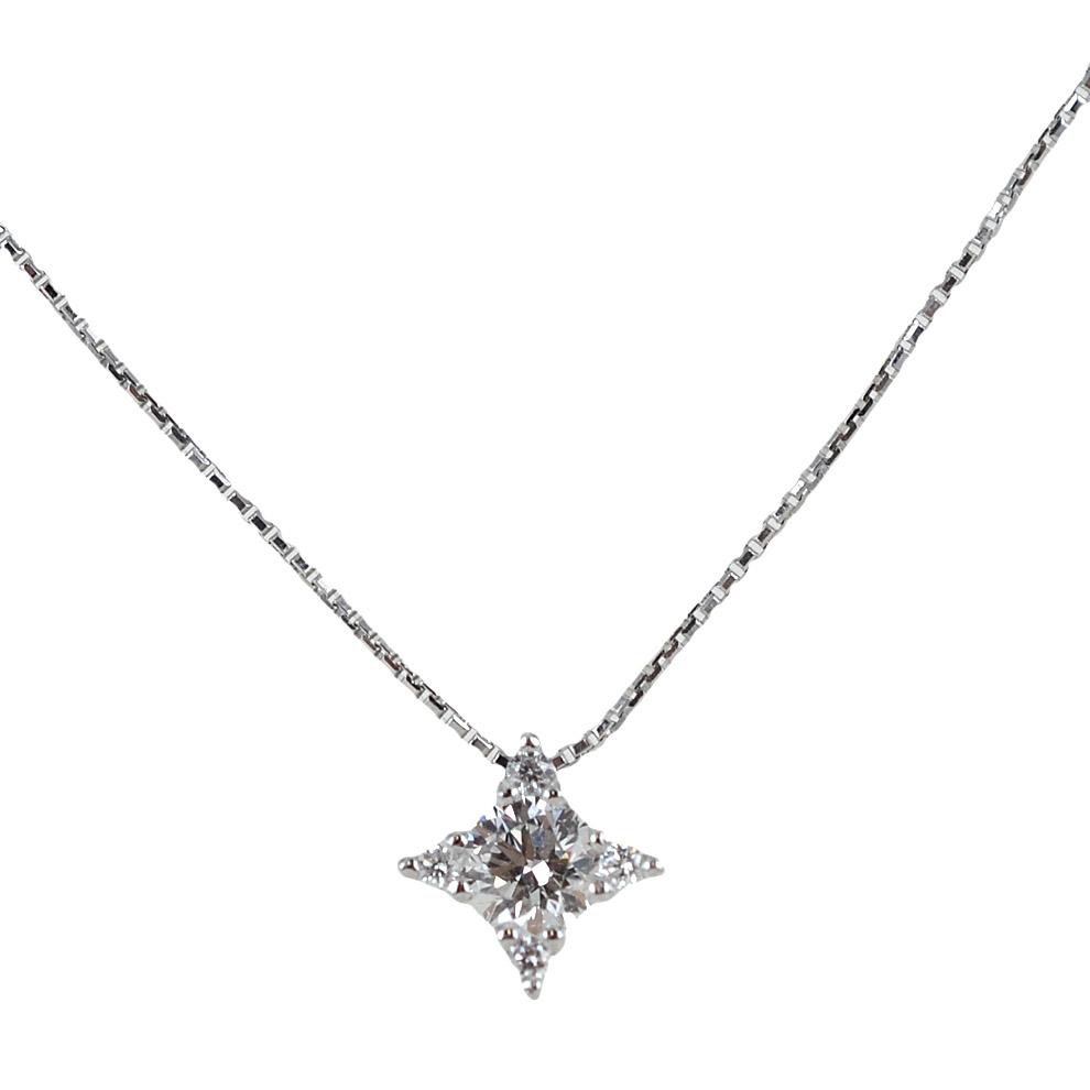 Collana con Punto Luce diamante ct. 0.23 F VS effetto stella Gioielli Valenza