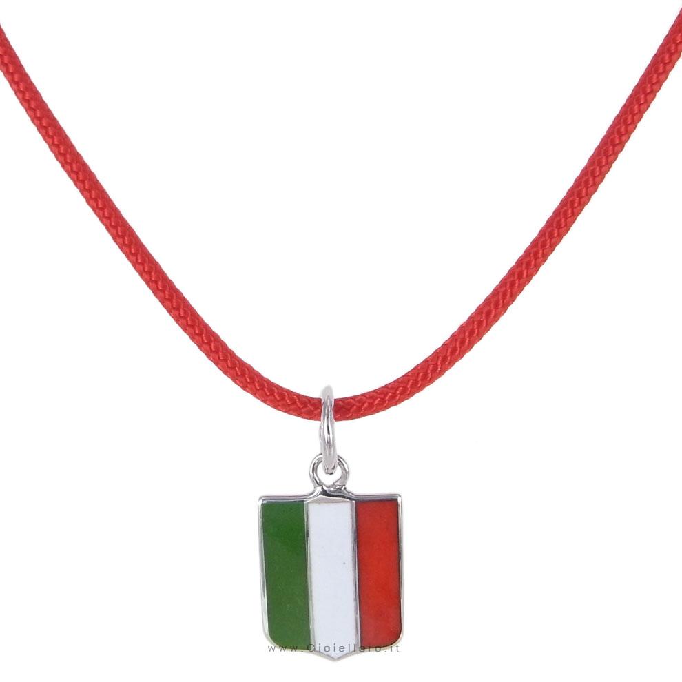 Collana con ciondolo Scudetto Italia in argento Arcadia