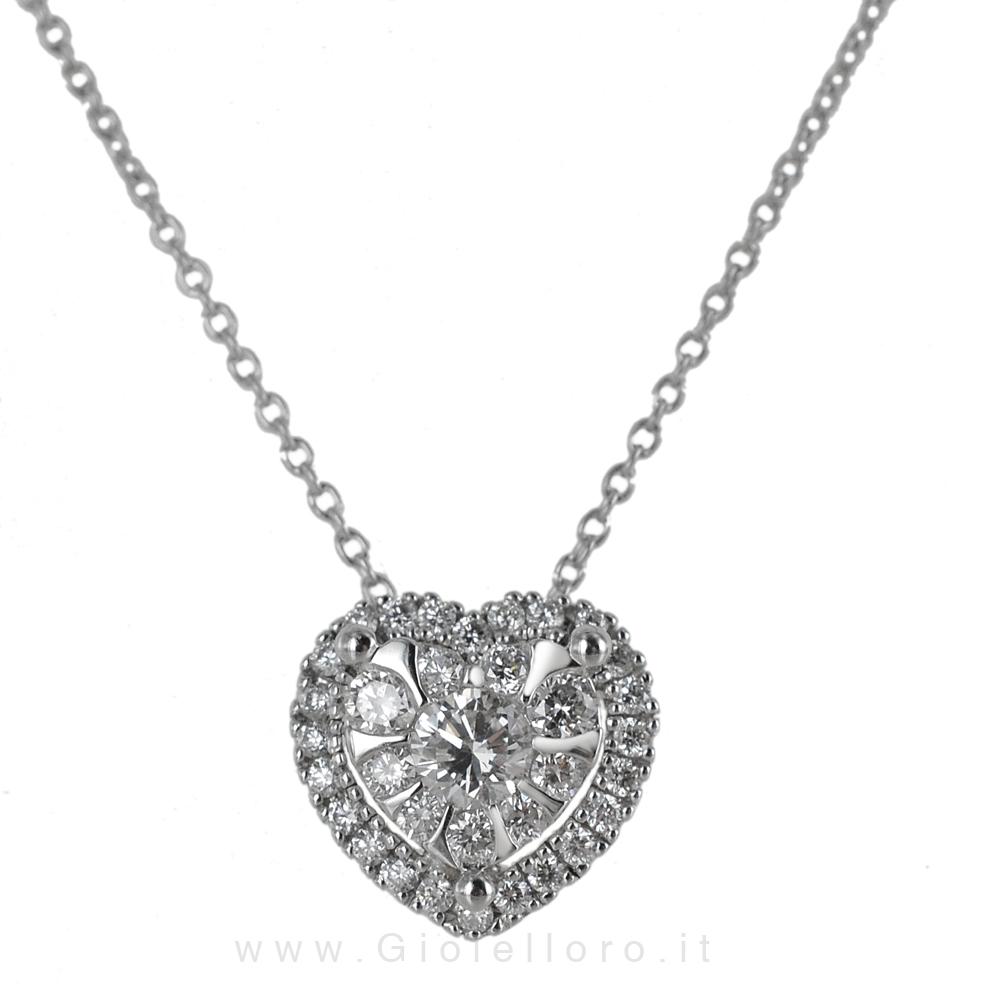 Collana con pendente CUORE Gioielli Valenza - magic heart collection