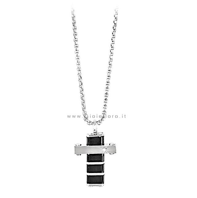 Collana con pendente Croce Uomo 2Jewels in acciaio collezione CROSS 251314