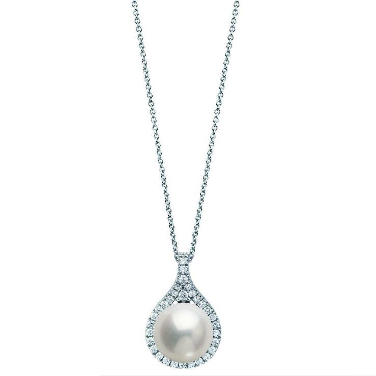 Collana con pendente Perla e diamanti Gioielli Valenza