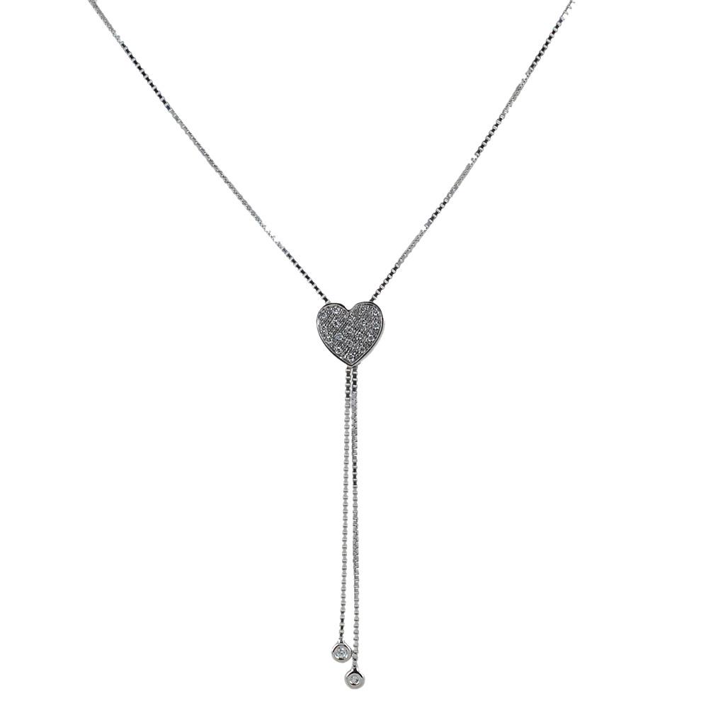 Collana con pendente Salvini cuore modello saliscendi con diamanti 20071359