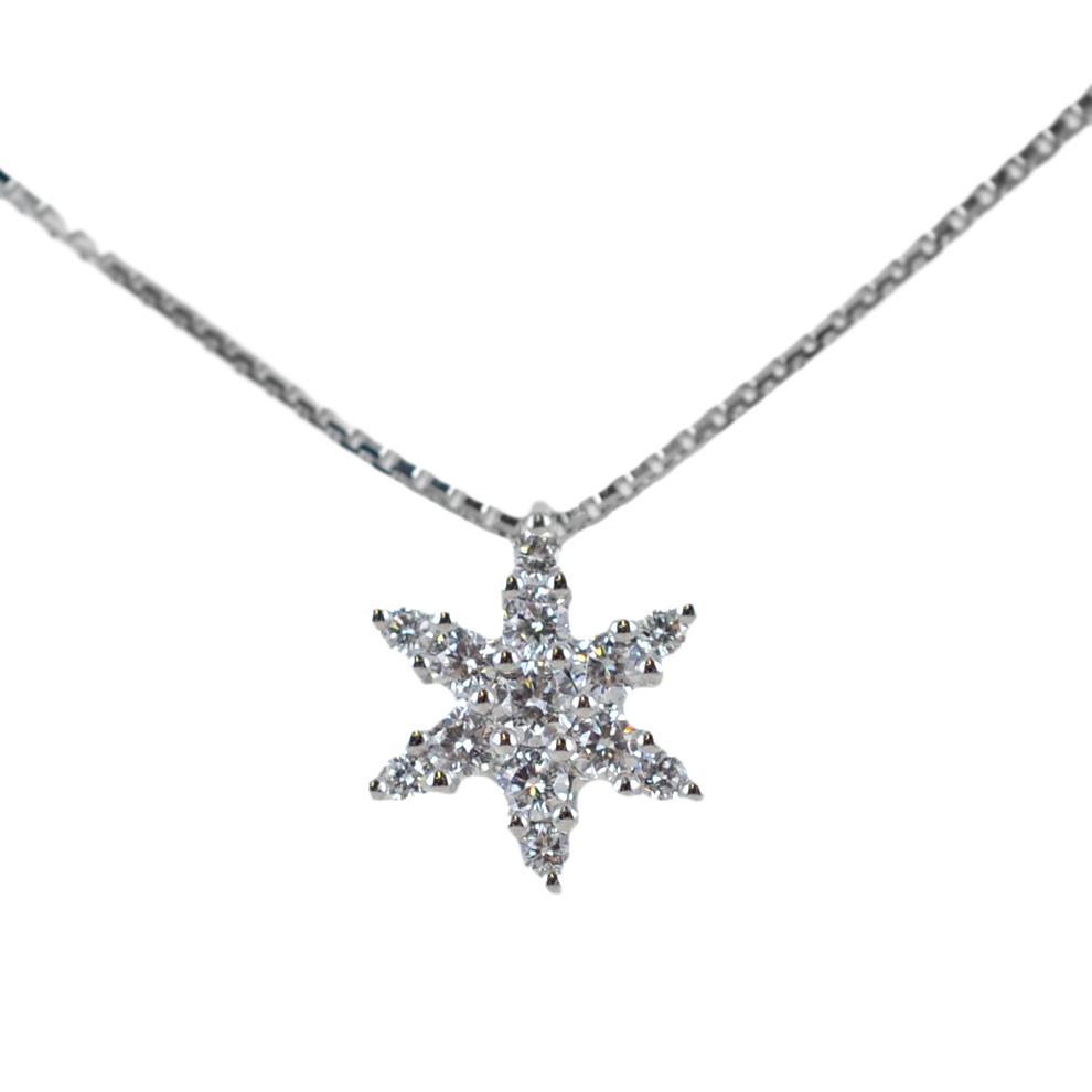 Collana con pendente Stella in oro e diamanti ct. 0.22 Gioielli Valenza