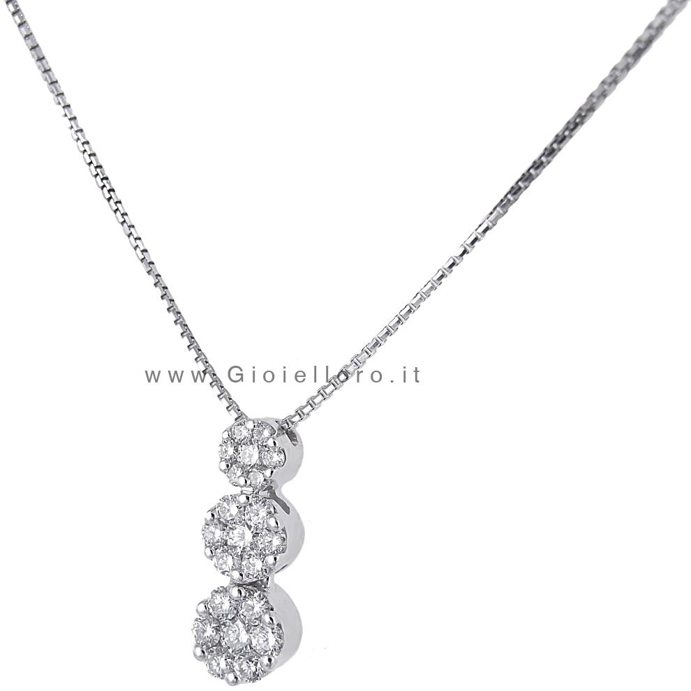 Collana con pendente Trilogy con diamanti Magic carati 0.30 G
