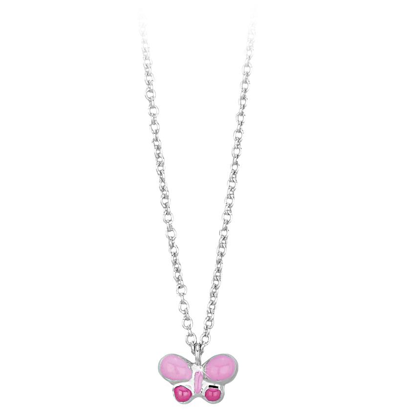 Collana da bambina in argento con ciondolo Farfalla