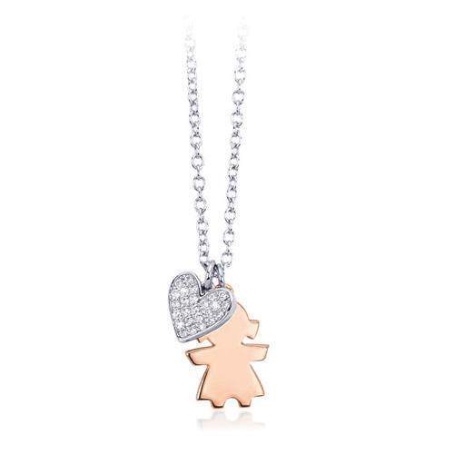 Collana donna Mabina in argento e zirconi bambina