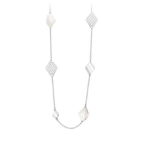 Collana lunga 2Jewels donna GEOMETRICS in acciaio madreperla e cristalli