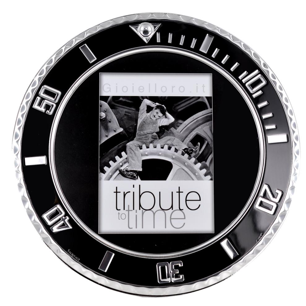 Cornice Portafoto ghiera Rolex in argento 18X18 cm
