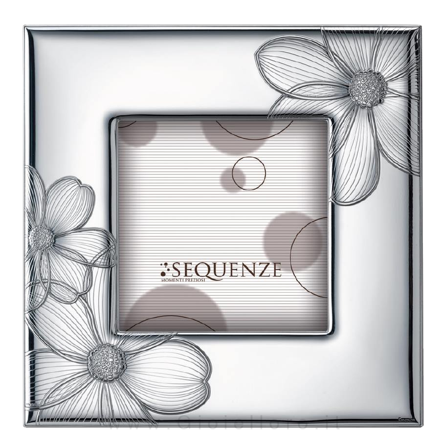 Cornice Portafoto in argento modello Honey 13X13 cm