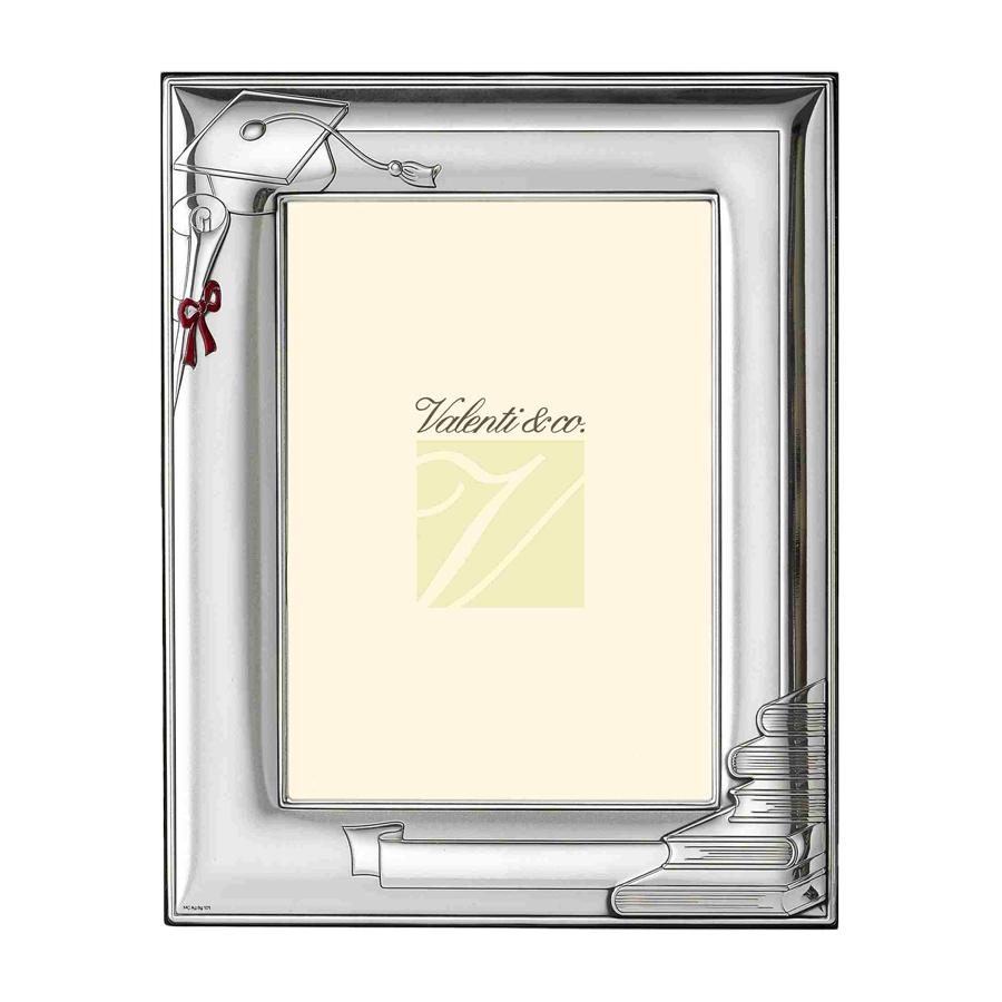 cornice portafoto in argento per laurea 13x18 gioielloro