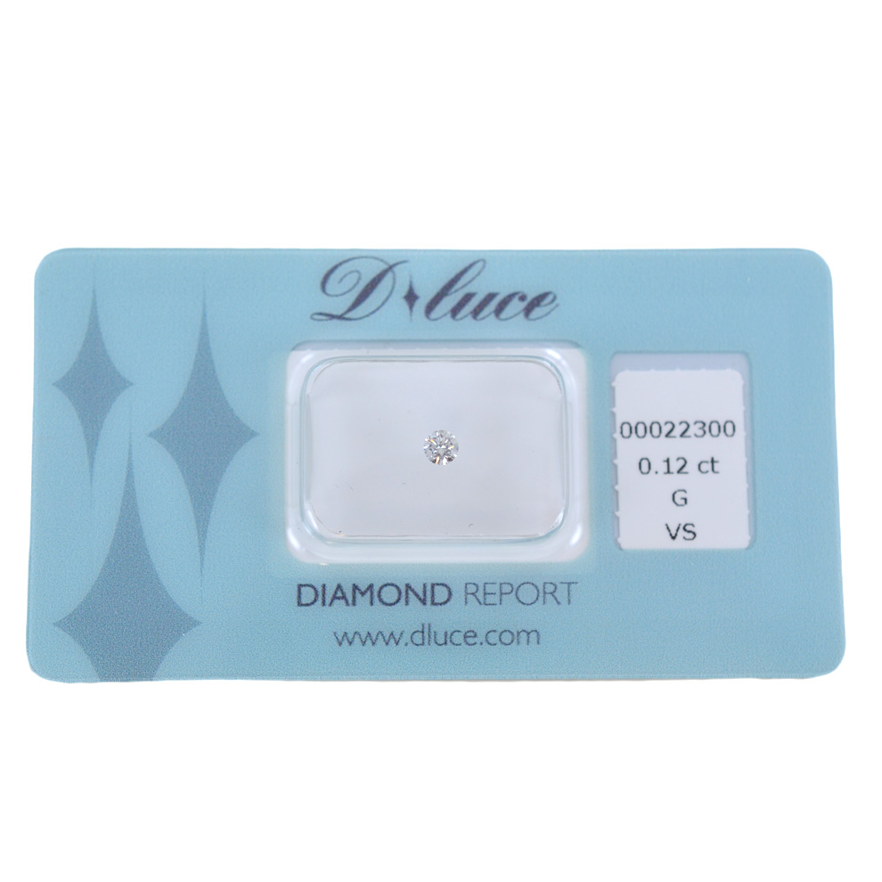 Diamante in blister Dluce carati 0.12 G VS con certificato