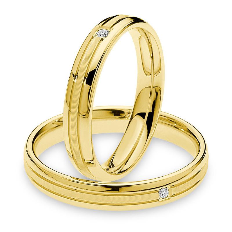 Fede Comete Gioielli Antonio e Cleopatra in oro giallo con un diamante ANB1878G