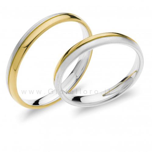 Fede Comete Gioielli Paolo e Francesca in oro bianco e giallo ANB1871BG