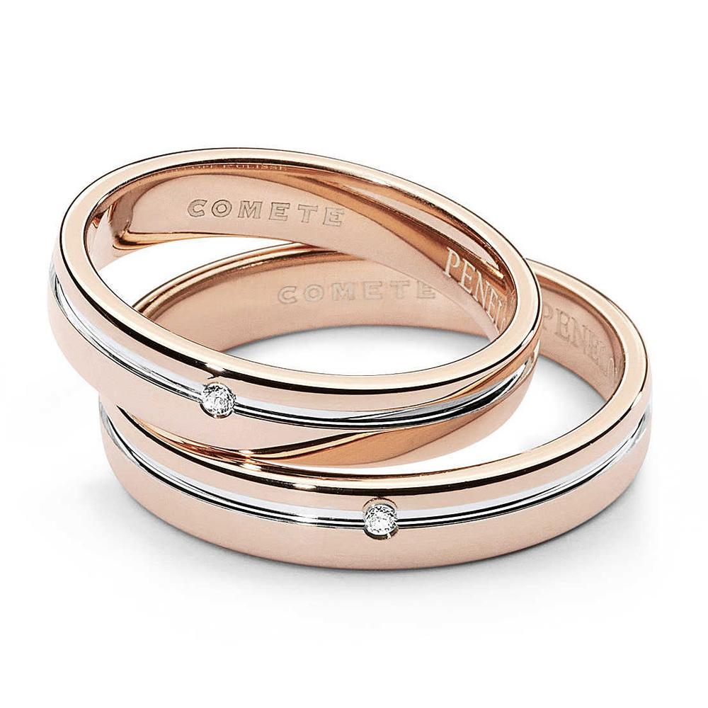 Fede Comete Gioielli Penelope e Ulisse con un diamante oro rosa ANB1379BR