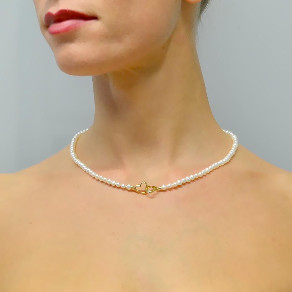 Girocollo di perle Comete Gioielli 4.50 - 5.00 FWQ120 con diamante