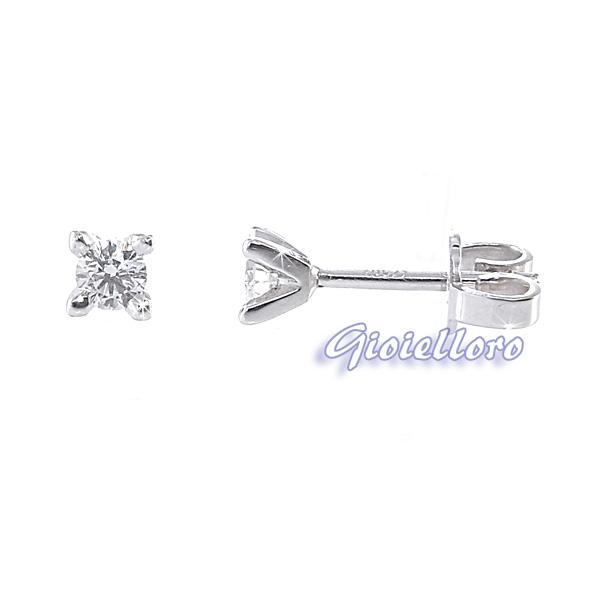 Orecchini Punto Luce con Diamanti ct. 0.20 colore G