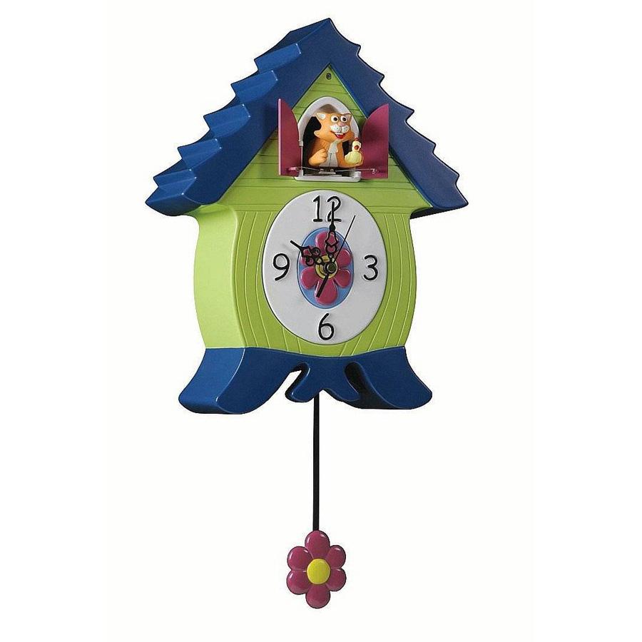 Orologio CUCU\' MeowCoo Clock - Gatto Blu Verde | Gioielloro.it - La ...