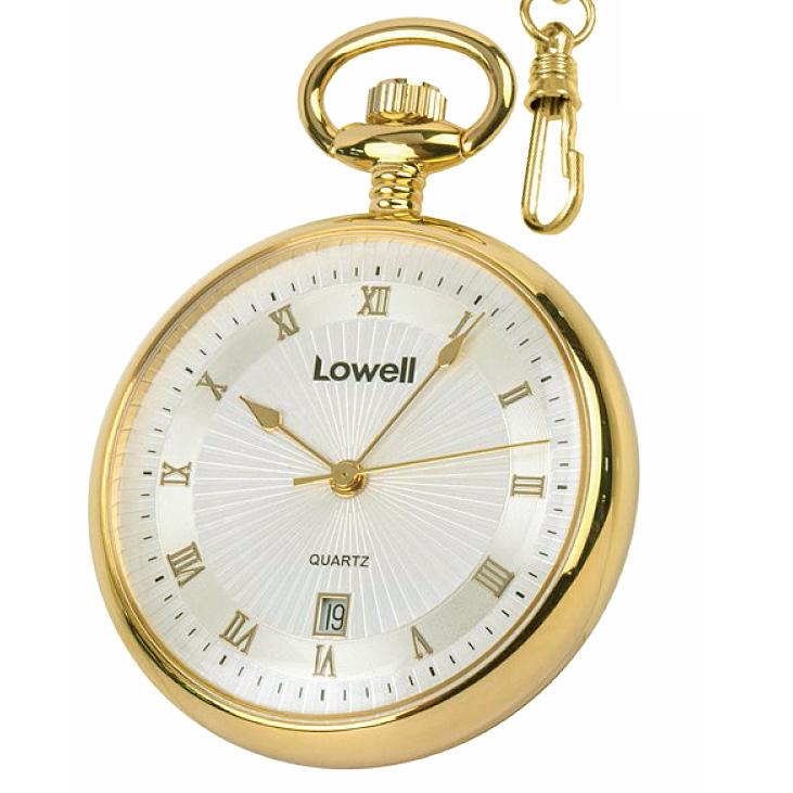 Orologio lowell tasca colore oro giallo numeri romani for Orologio numeri romani