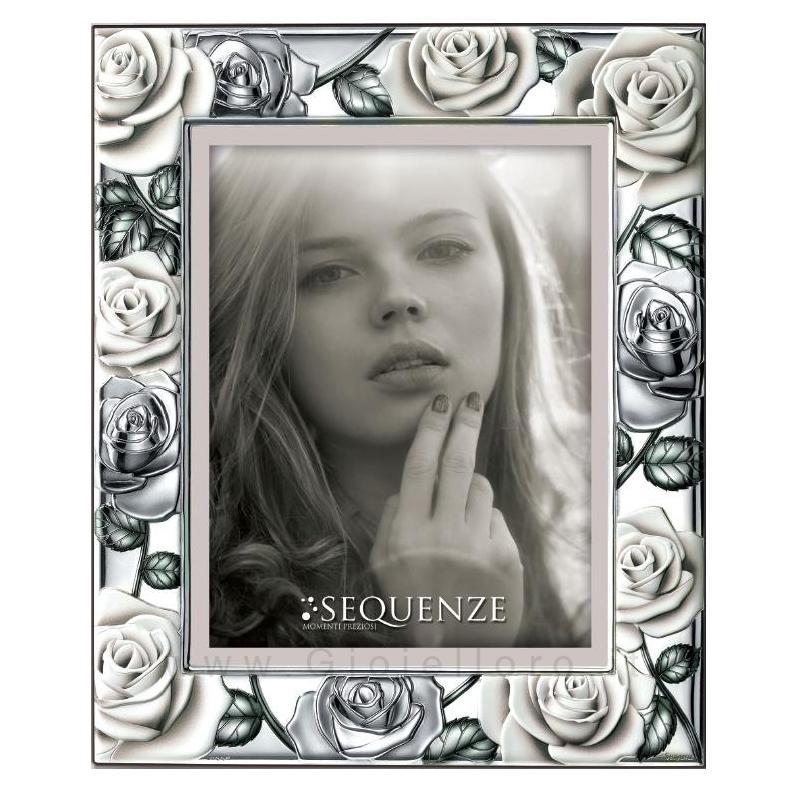 Cornice Portafoto in argento modello Carmen 18x24 cm
