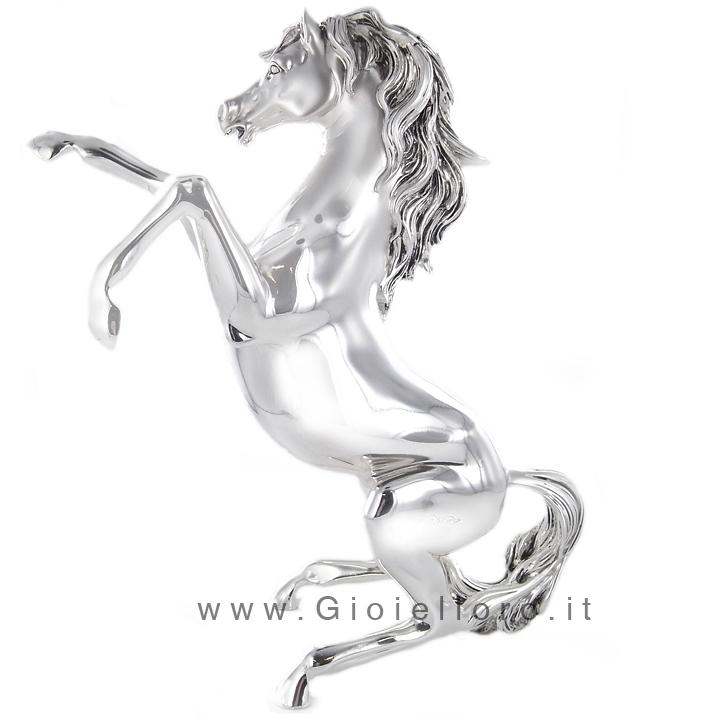 Scultura Cavallo in argento