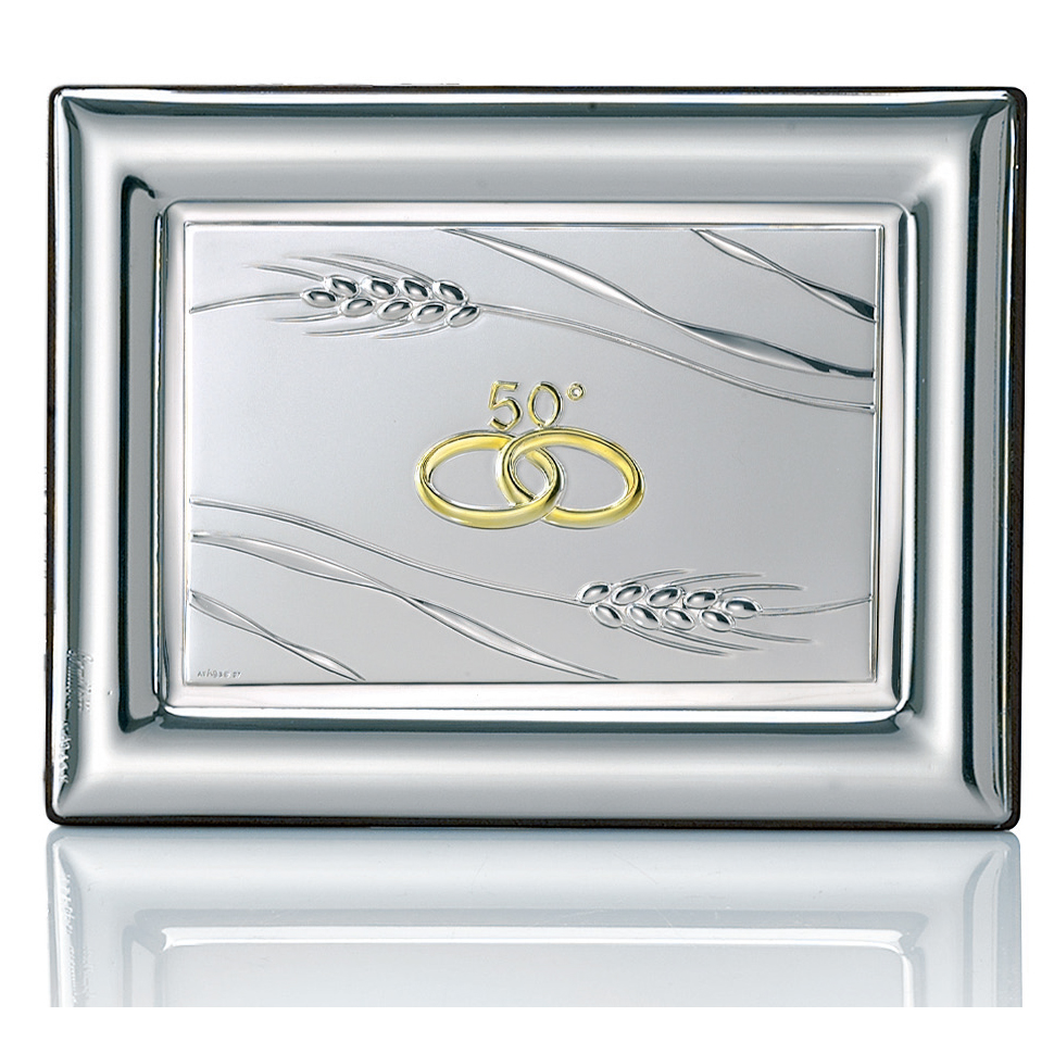 targa in argento nozze d oro anniversario 50 anni di