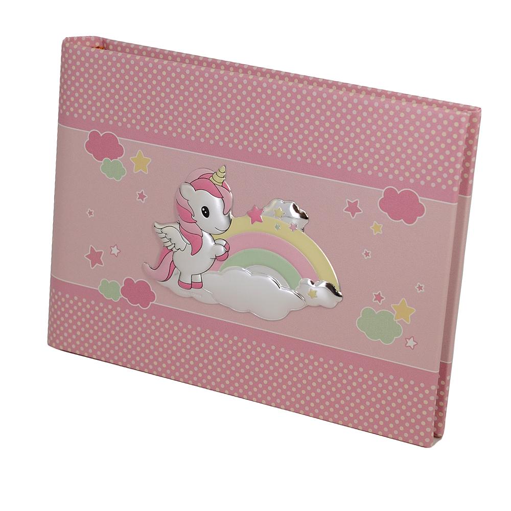 Album da bambina con Unicorno album orizzontale 22x16 cm