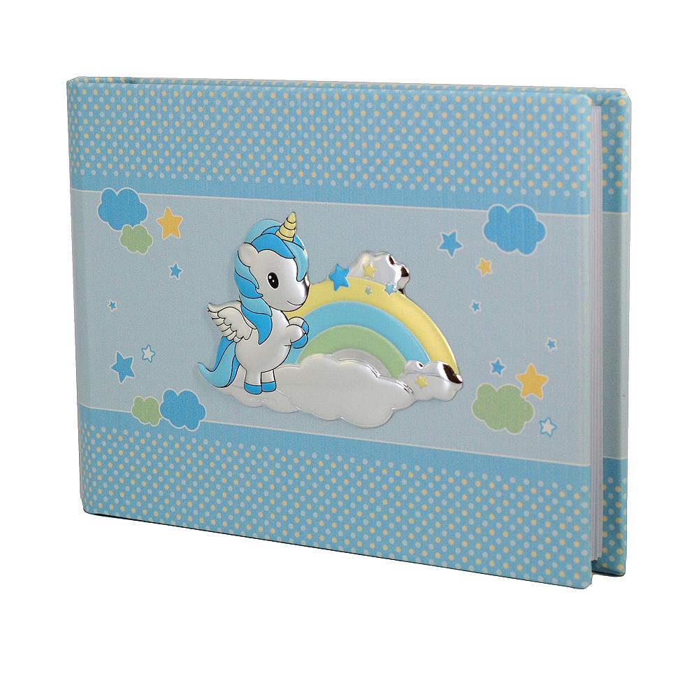 Album da bambino con Unicorno album orizzontale 22x16 cm