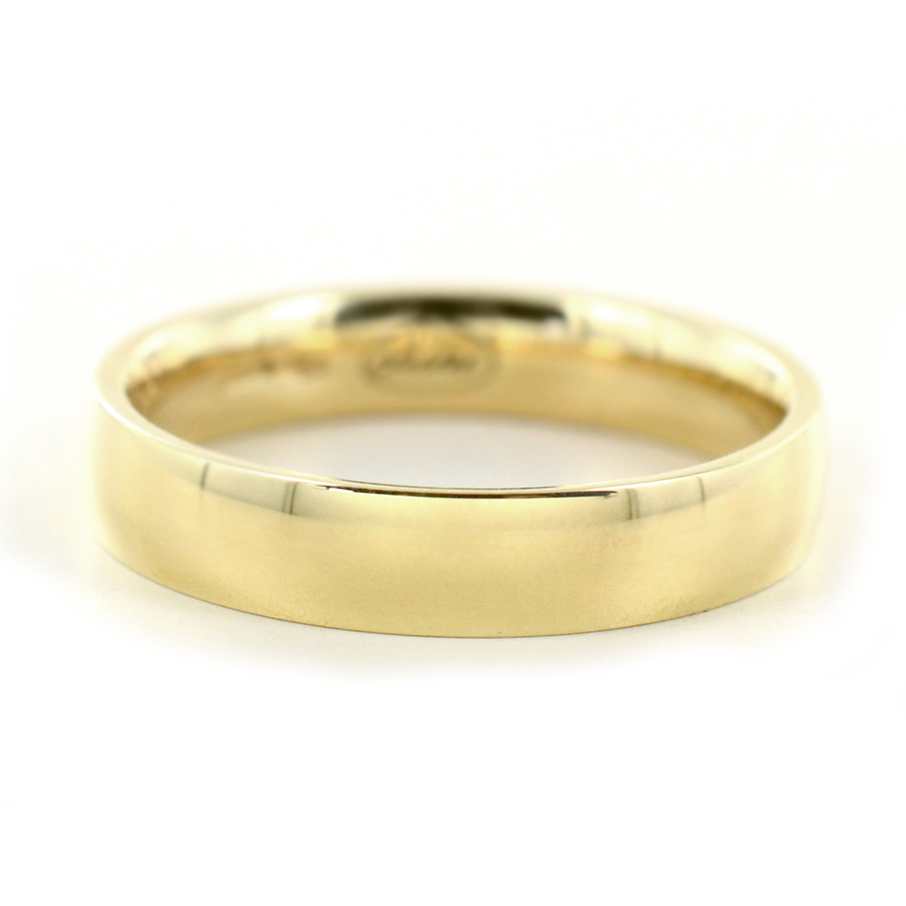 Anello a fascia larga in oro giallo unisex misura 18