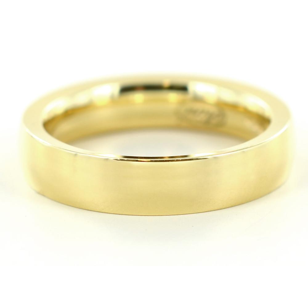 Anello a fascia liscia in oro giallo 4 mm misura 11